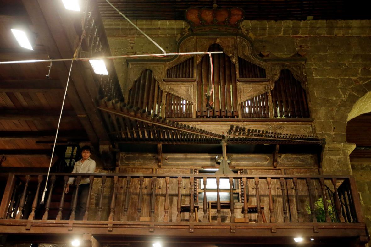 Bambusové varhany v Manile