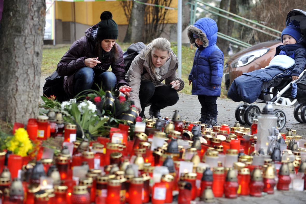 Pieta u místa vraždy v Uherském Brodě