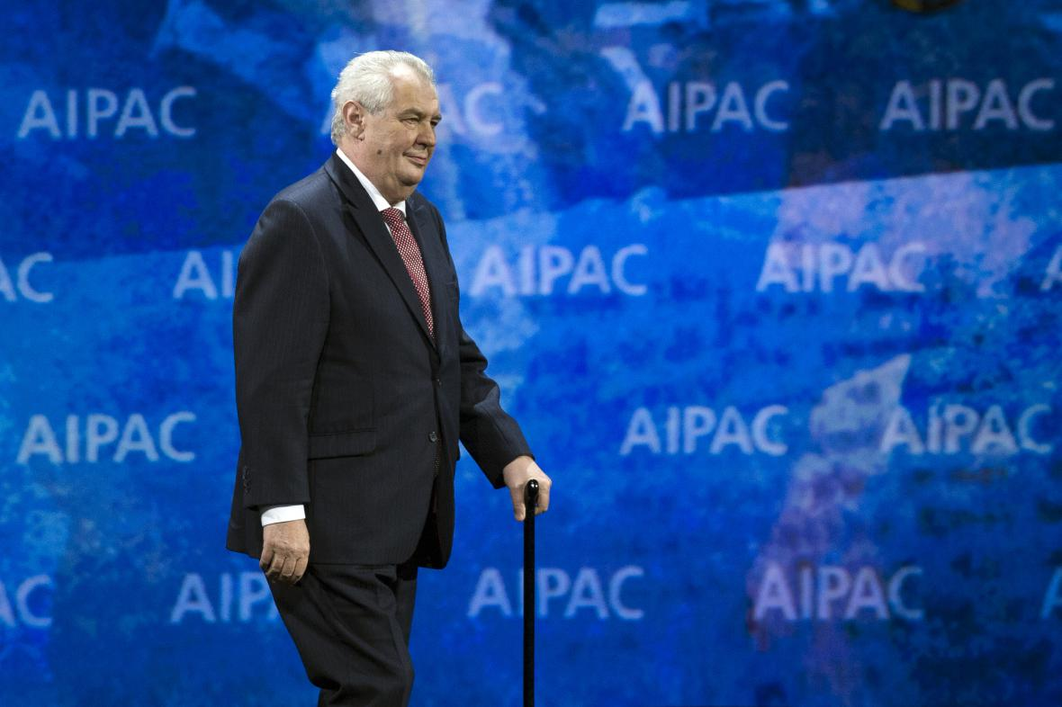 Miloš Zeman na konferenci AIPAC