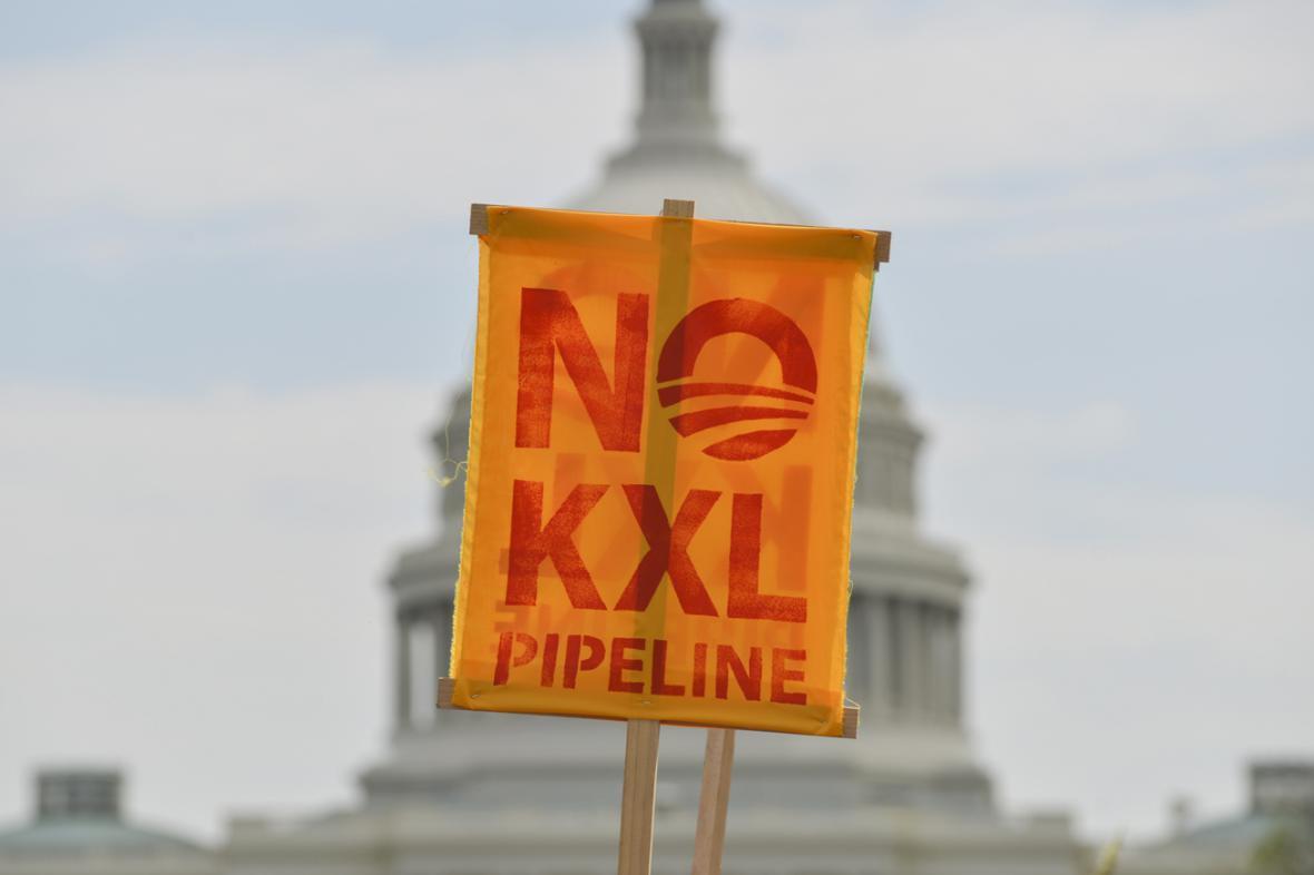 Protest proti ropovodu Keystone XL