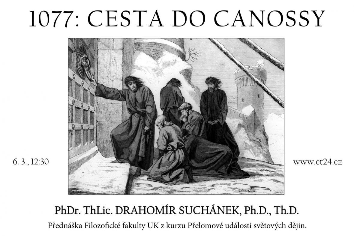 Plakát k přednášce Cesta do Canossy