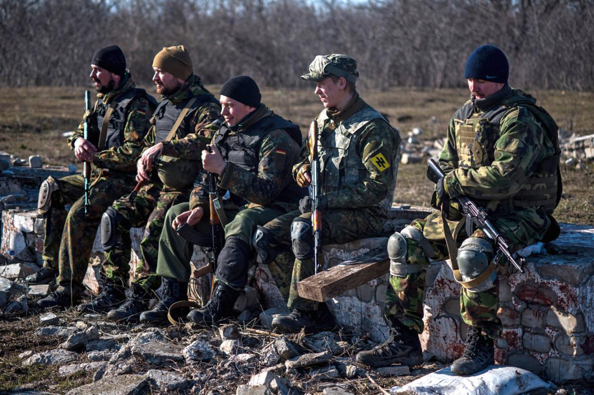 Dobrovolníci z Azovského praporu