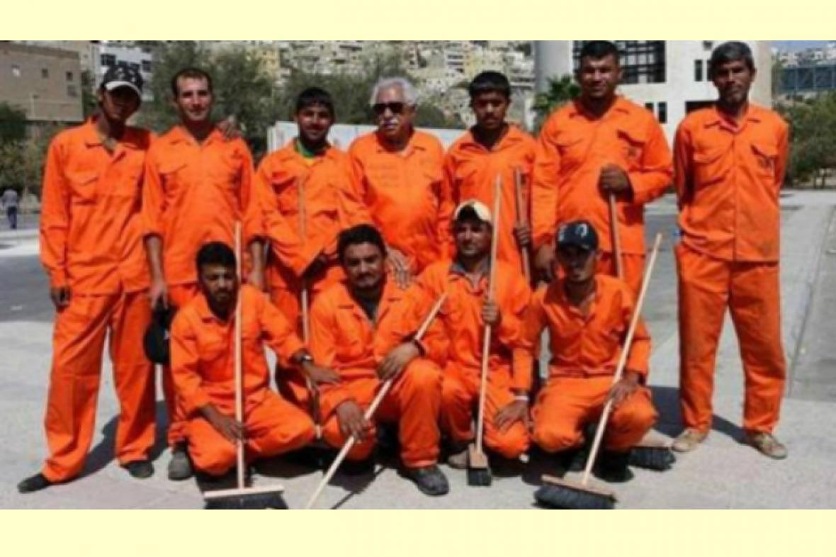 Stejnokroj jordánských popelářů