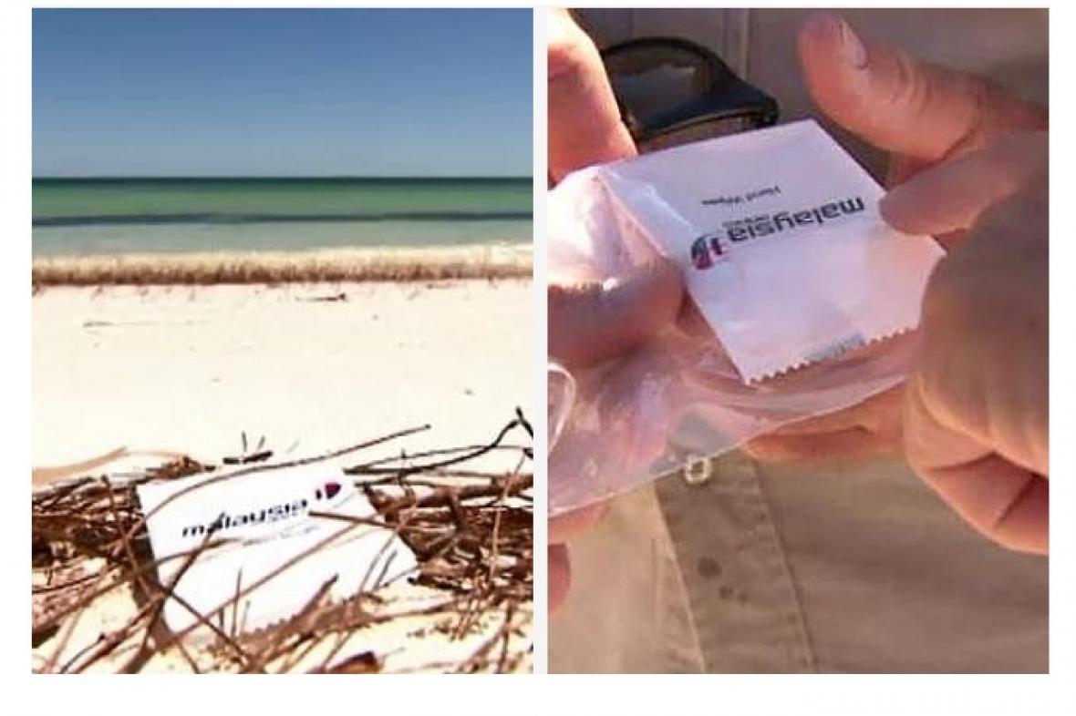Ubrousek, který byl loni nalezen na australské pláži