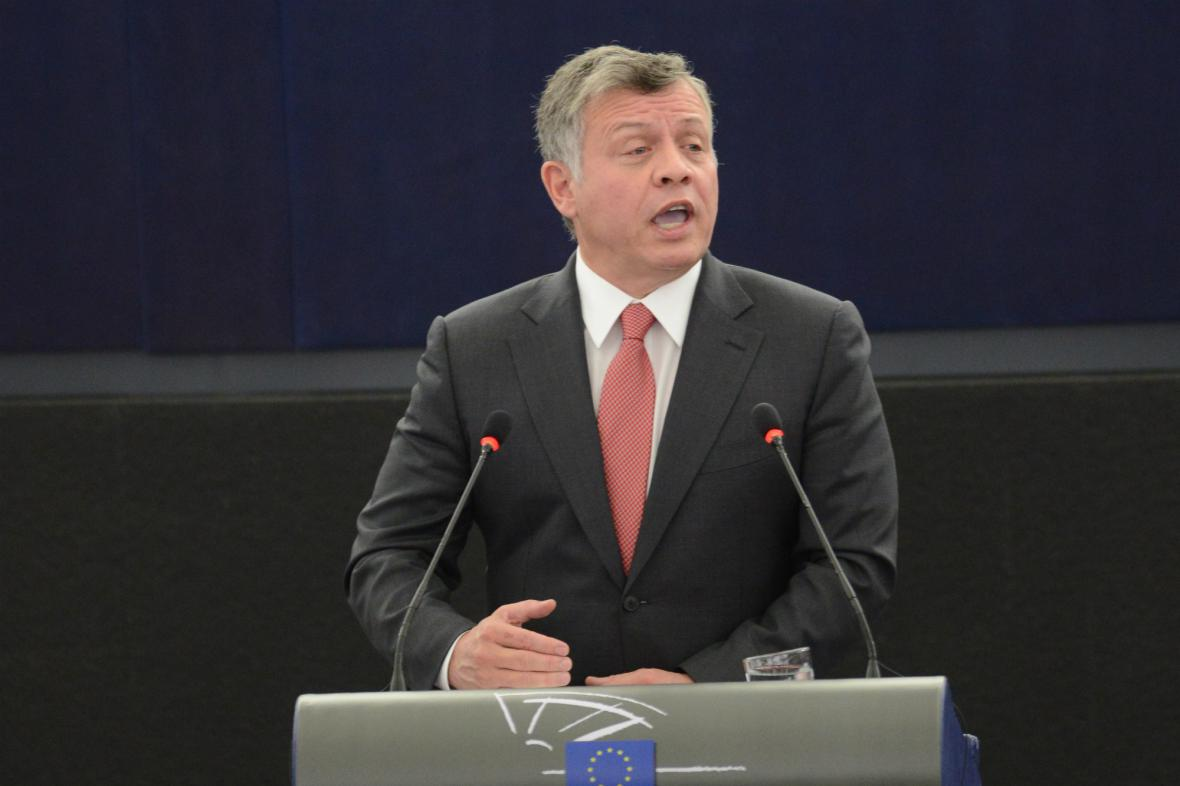 Abdalláh II. v Evropském parlamentu
