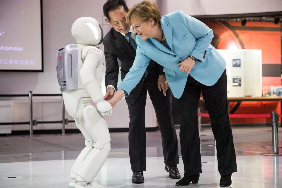 Angela Merkelová v Japonsku
