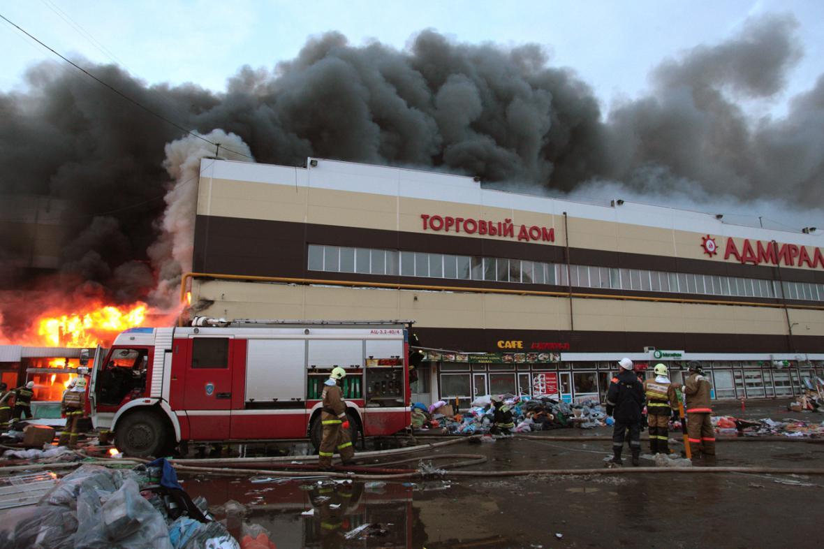 Požár kazaňského nákupního centra Admiral