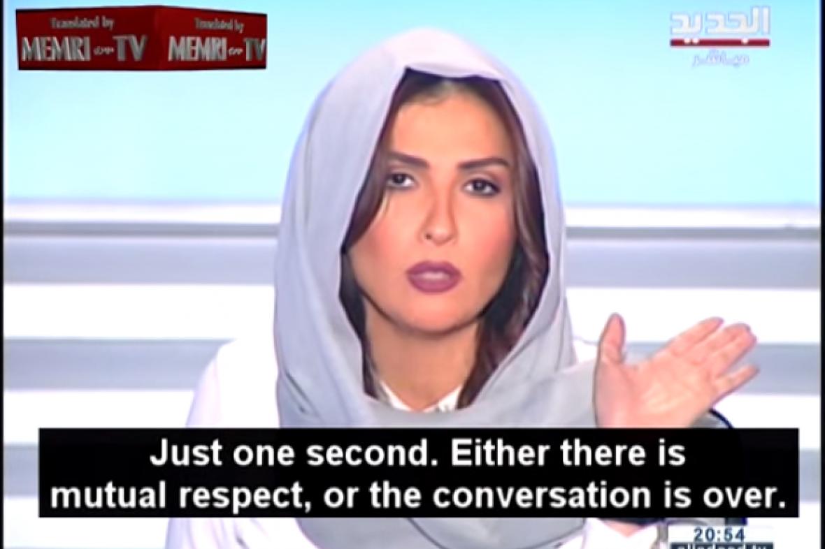 Libanonská moderátorka Rima Karaki