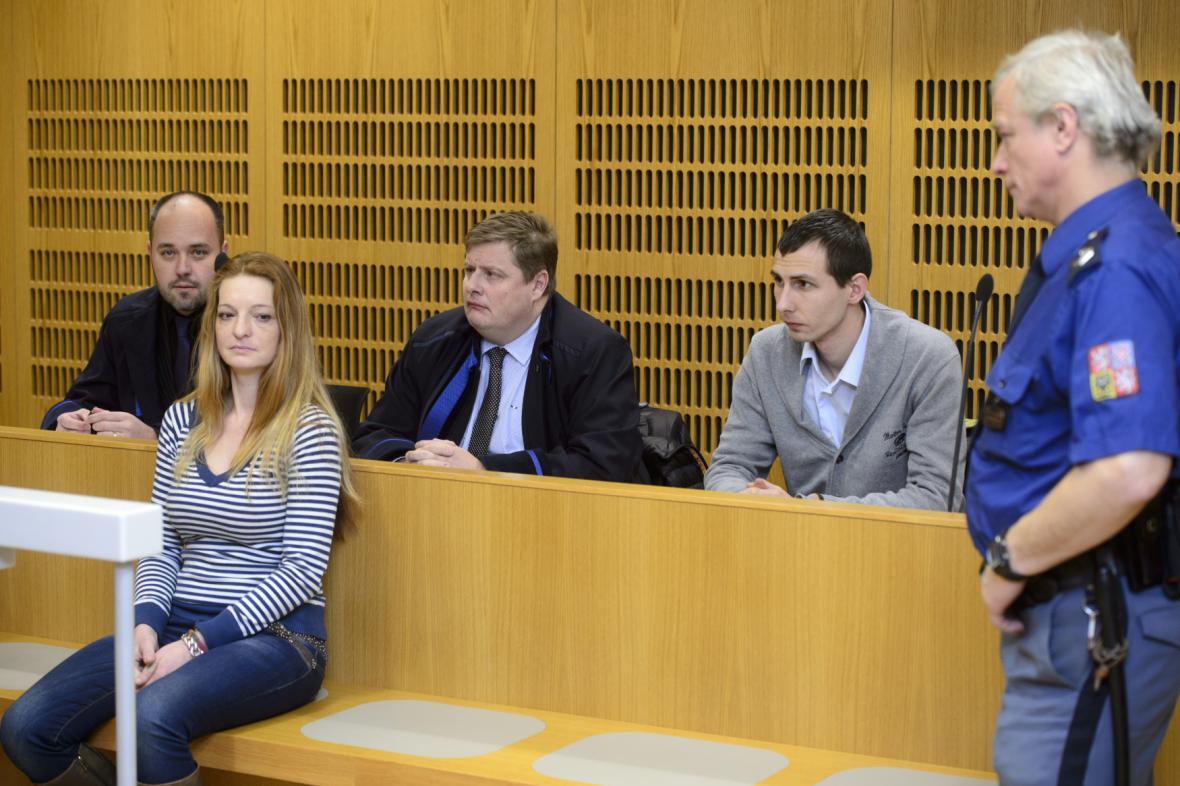Petra Brožová a Jiří Kunčar před soudem