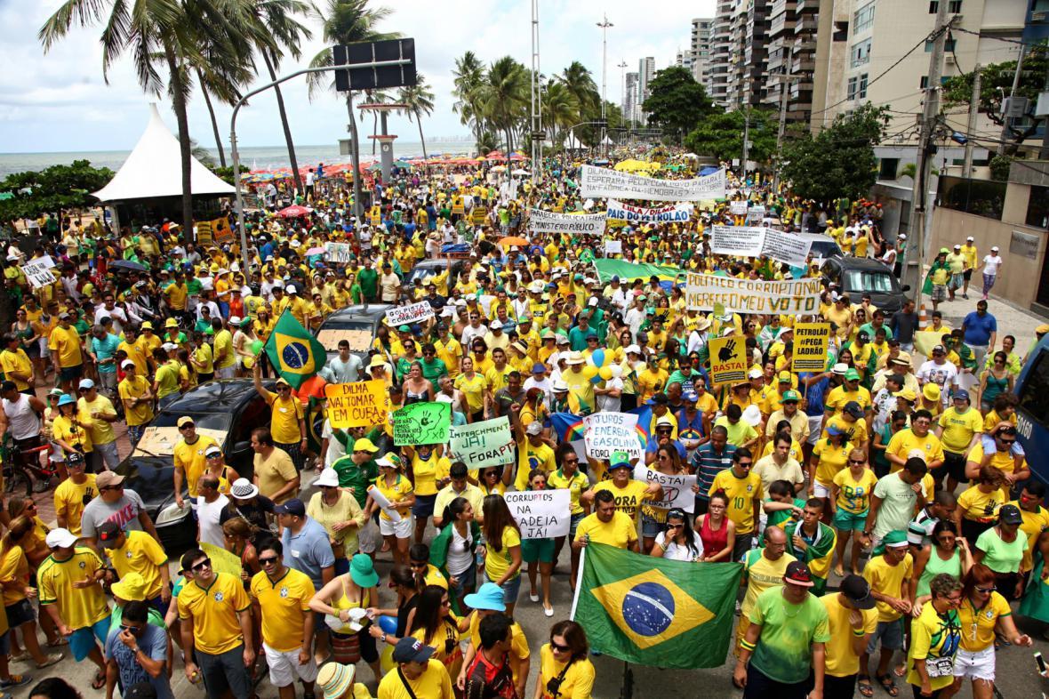 Milionový protest v Brazílii