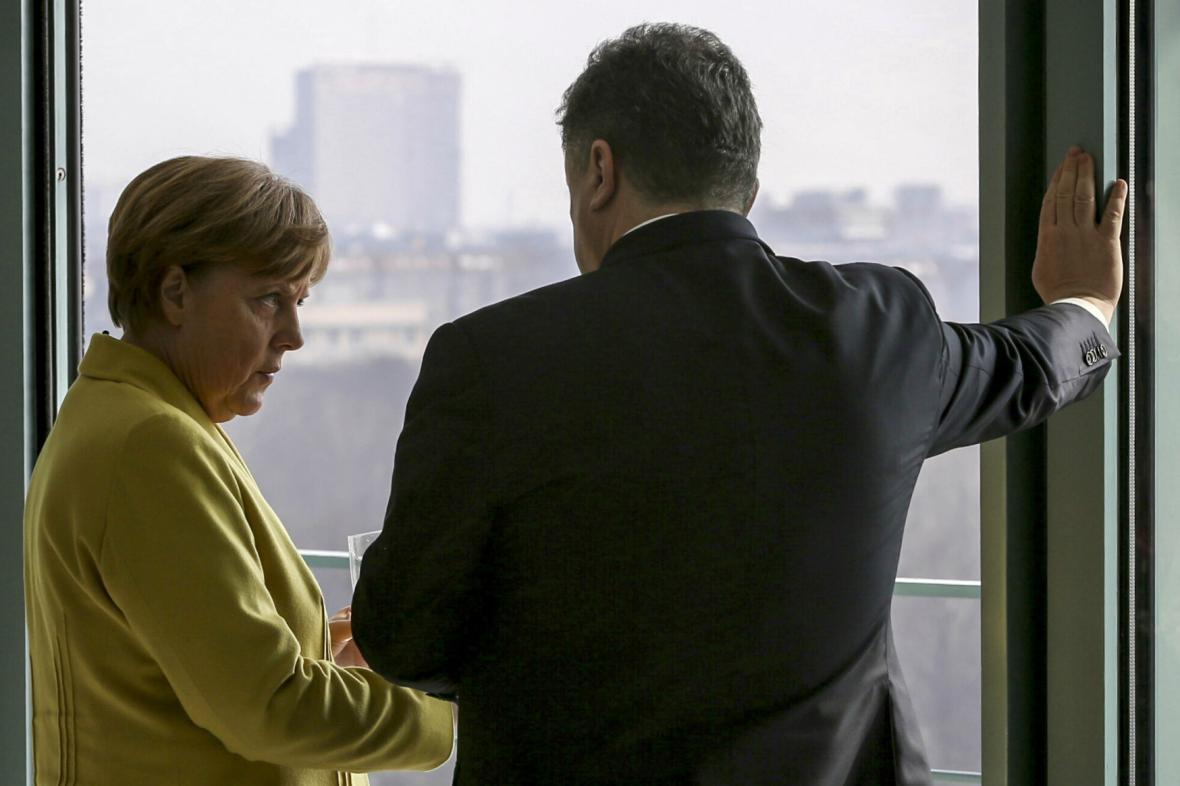 Petro Porošenko na státní návštěvě Německa