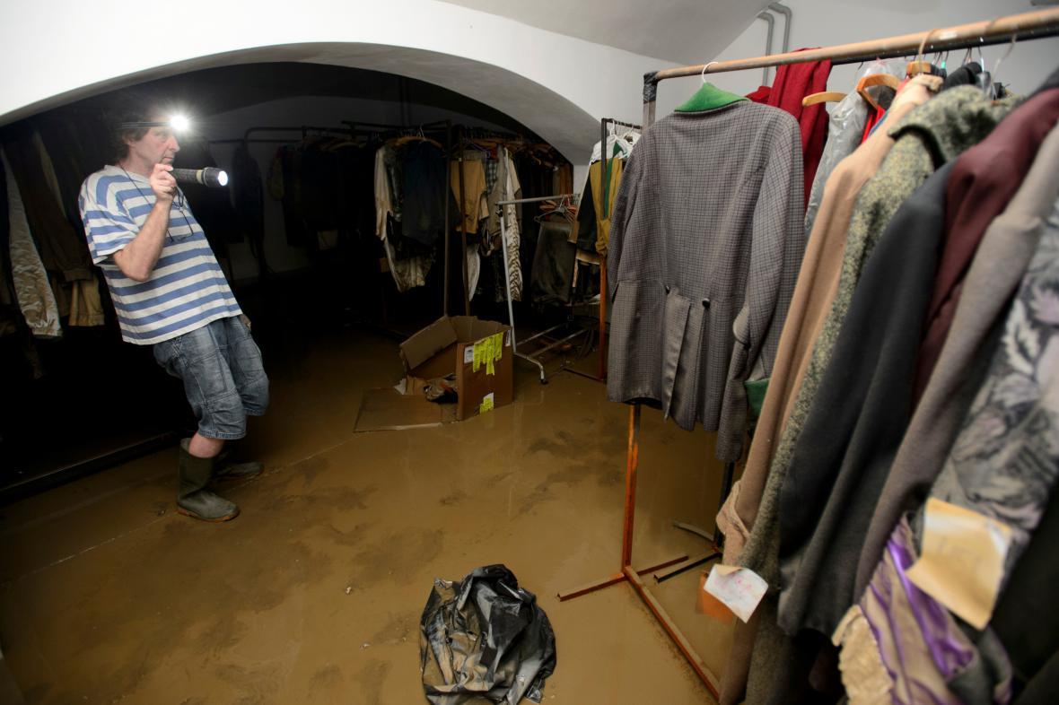 Zaplavené Divadlo pod Palmovkou