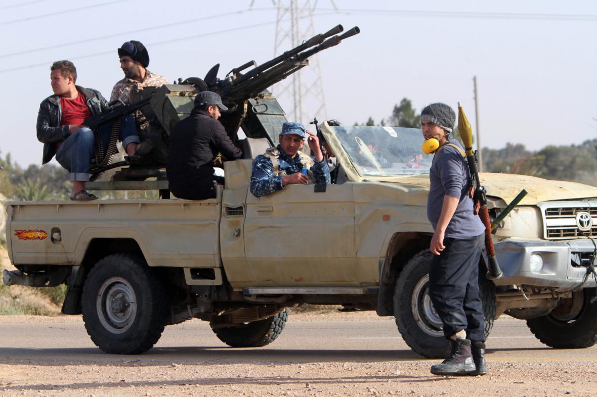 Ozbrojenci v městě Syrta. Ilustrační foto