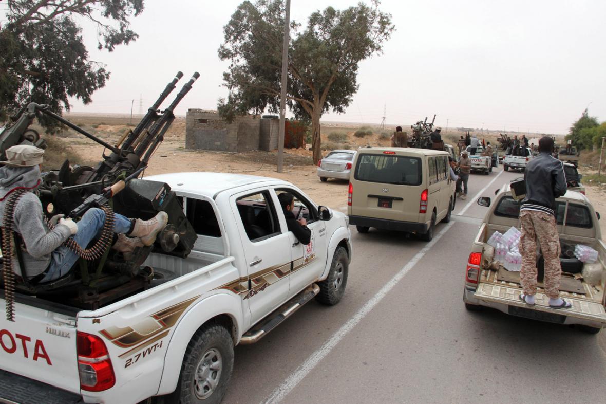 Ozbrojenci v libyjské Syrtě