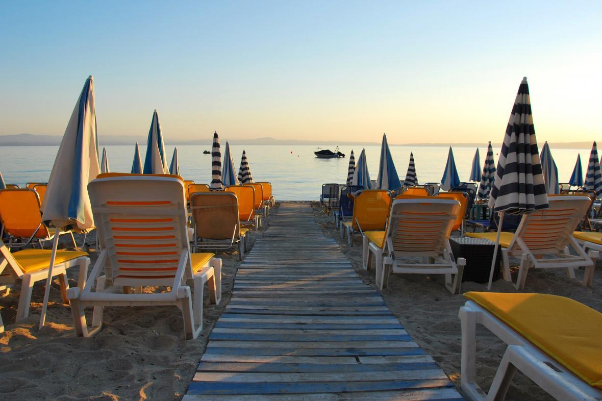 Na pláži v řeckém Chalkidiki