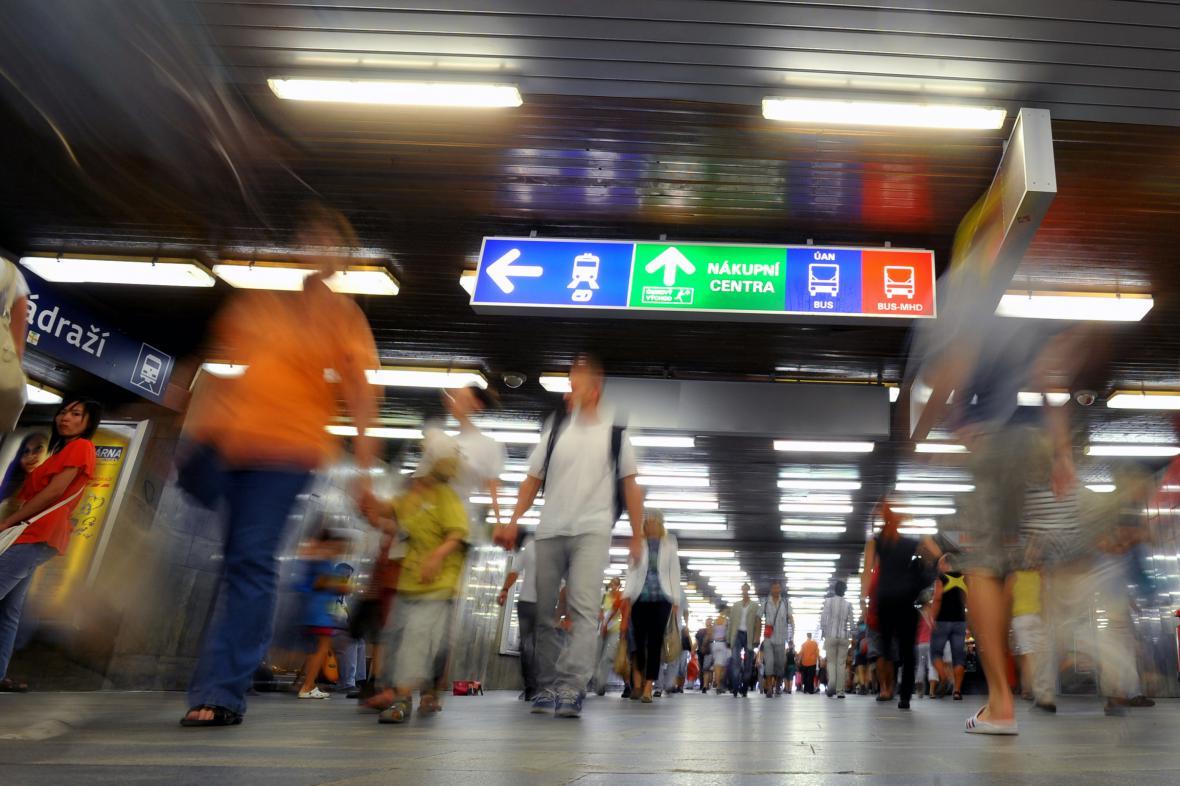 Podchod pod Hlavním nádražím v Brně