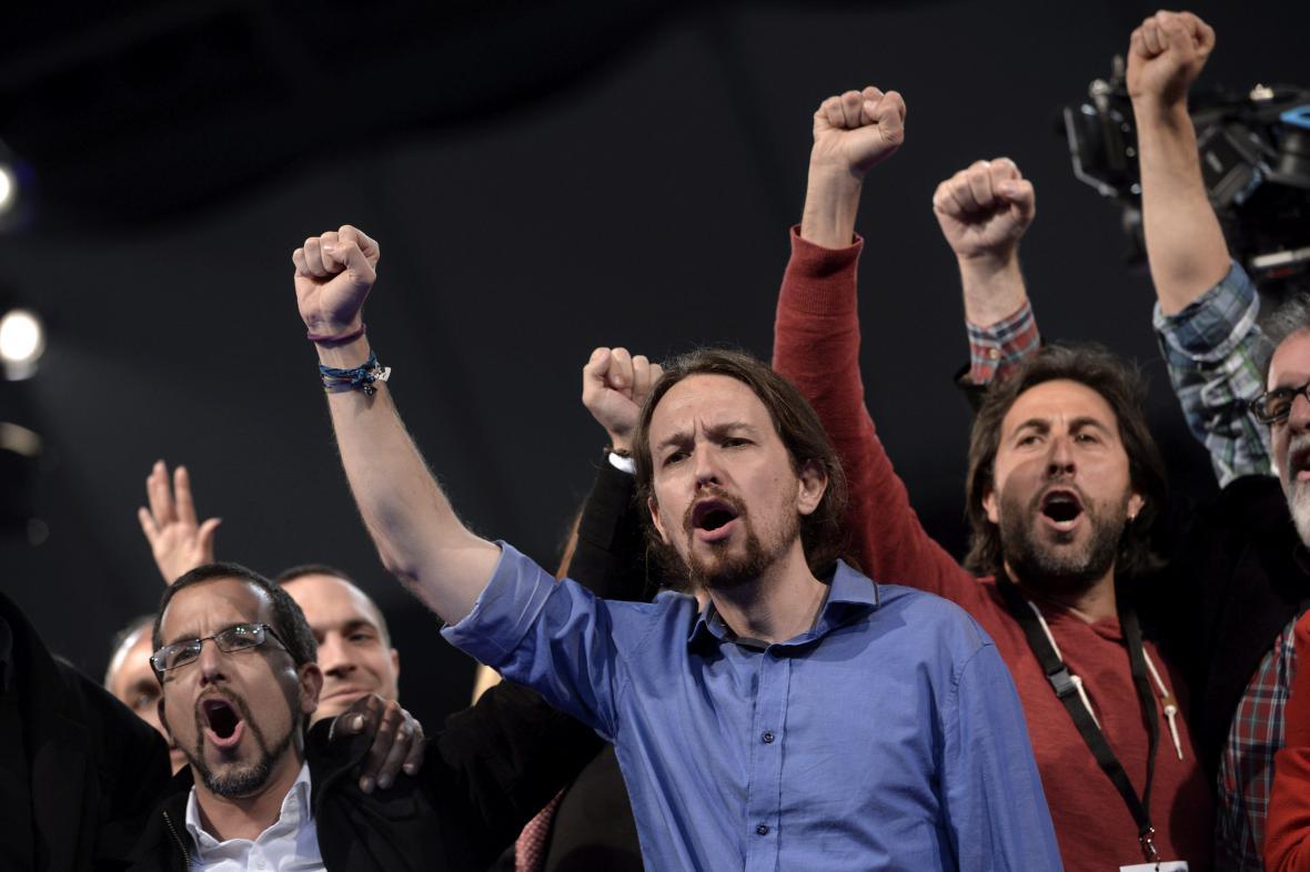 Lídr Podemos Pablo Iglesias
