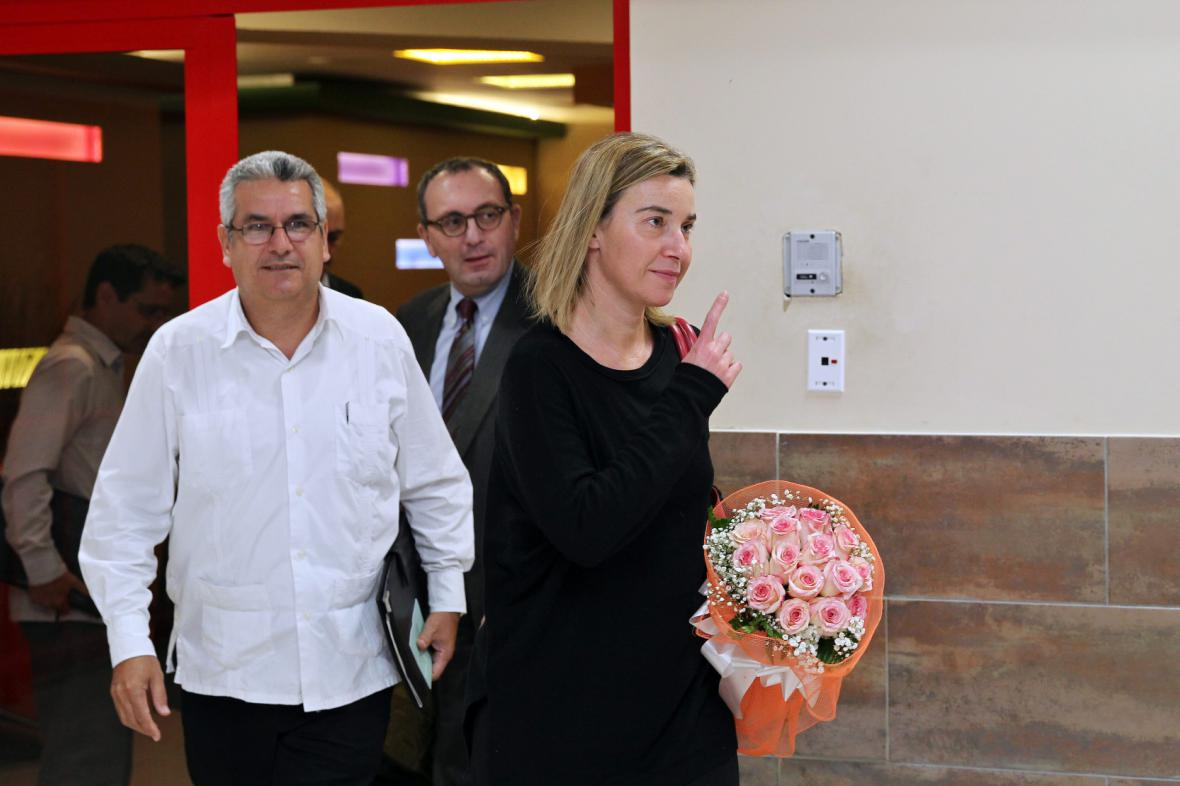 Federica Mogheriniová na návštěvě Kuby