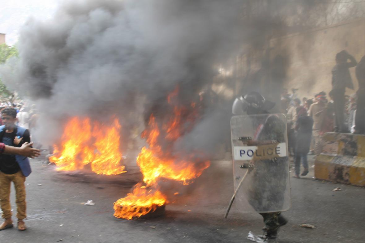 Demonstrace proti postupu šíitů v Jemenu