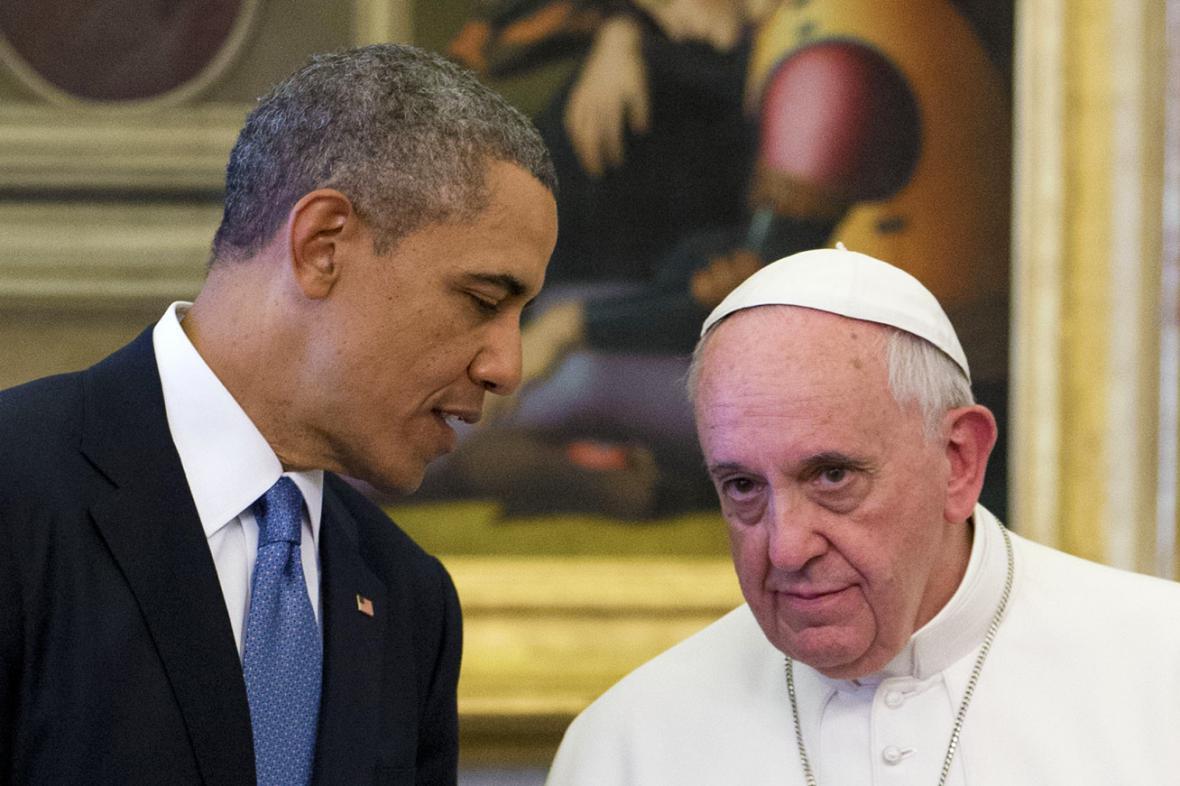 Barack Obama s papežem Františkem