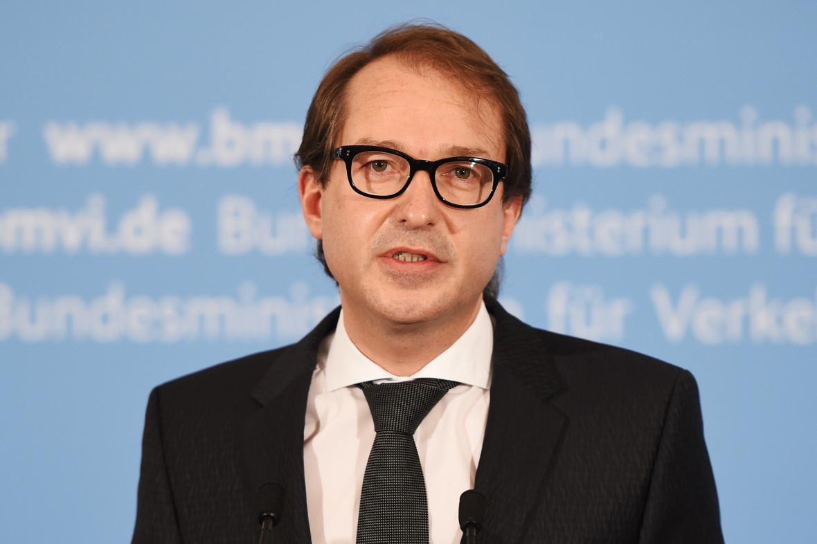 Německý ministr dopravy Alexander Dobrindt (CSU)