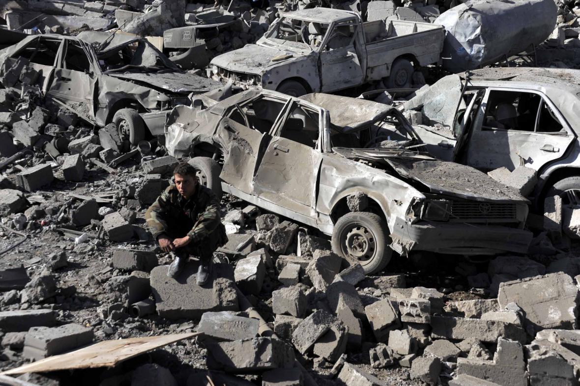 Místo jednoho z náletů v Jemenu