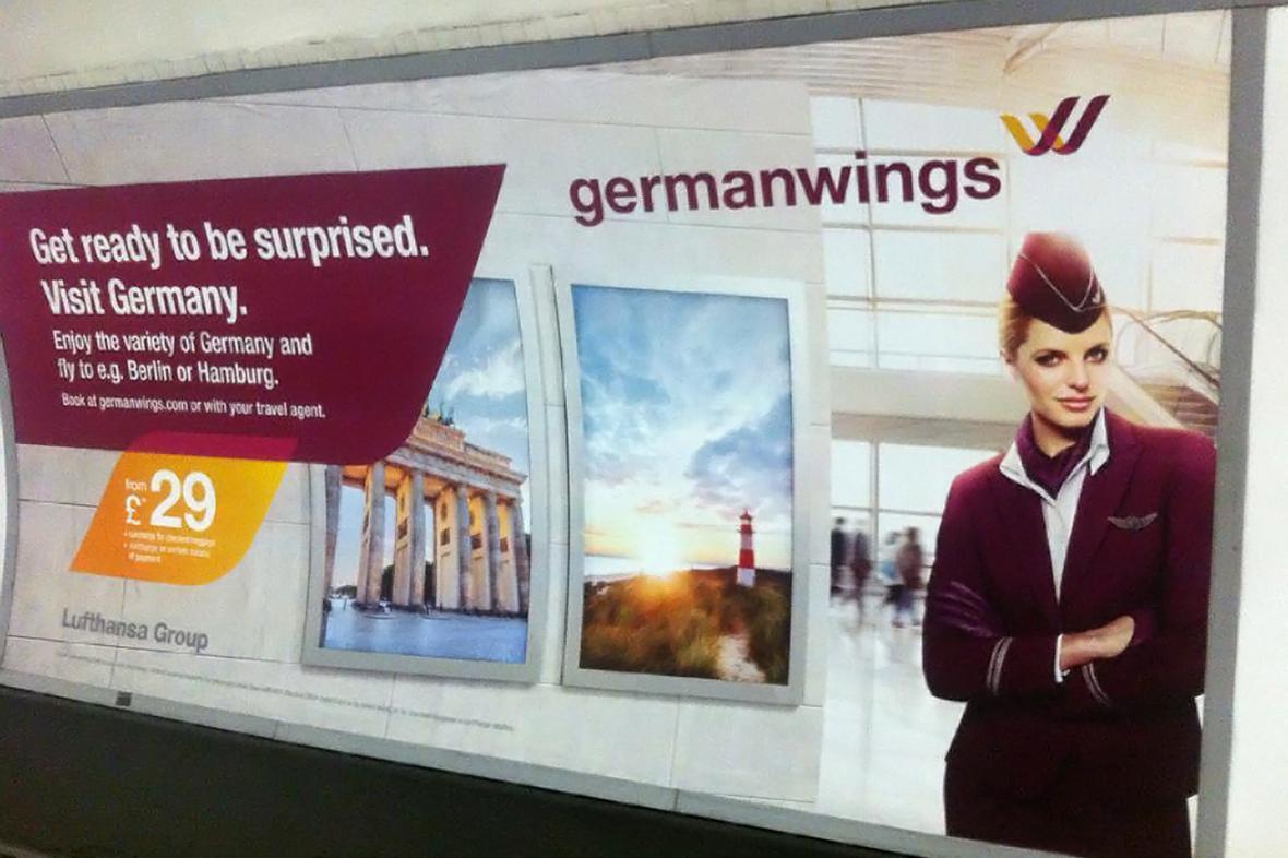 Germanwings stahuje nevhodné billboardy