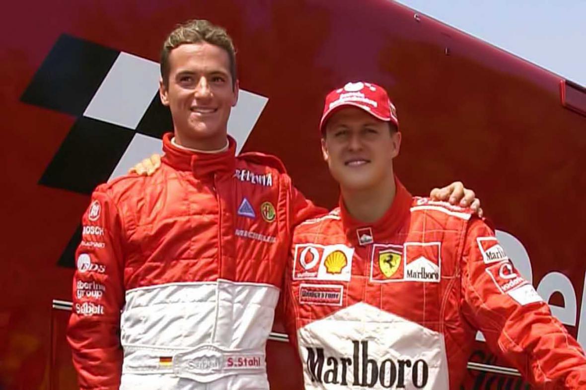 Sebastian Stahl a Michael Schumacher v roce 2003