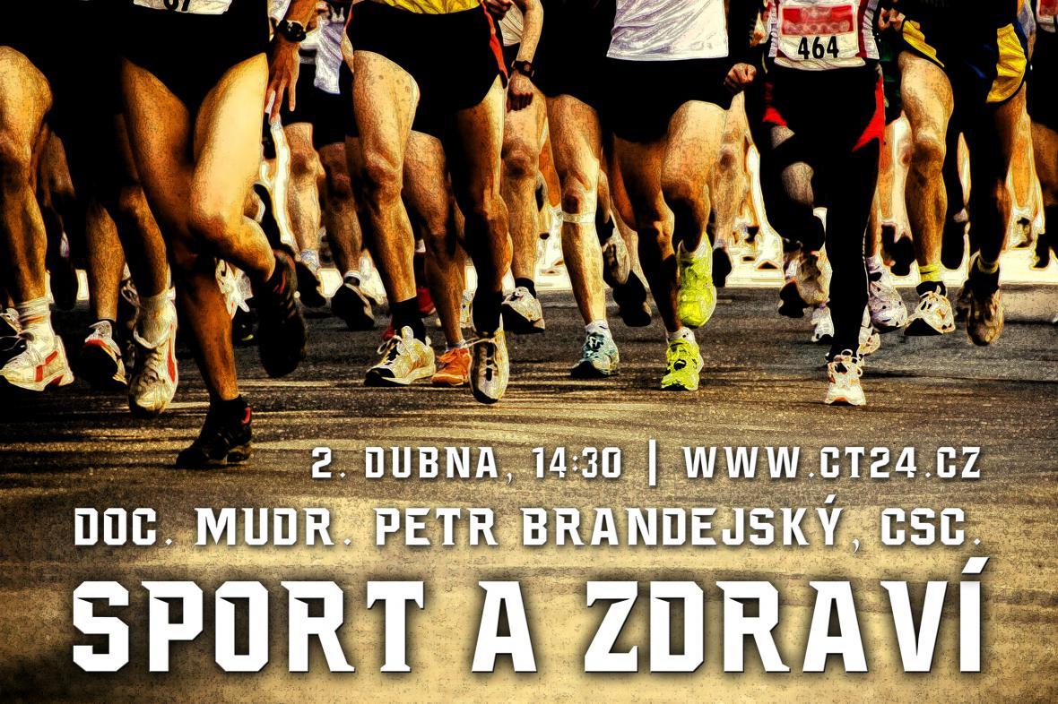 Plakát k přednášce Sport a zdraví