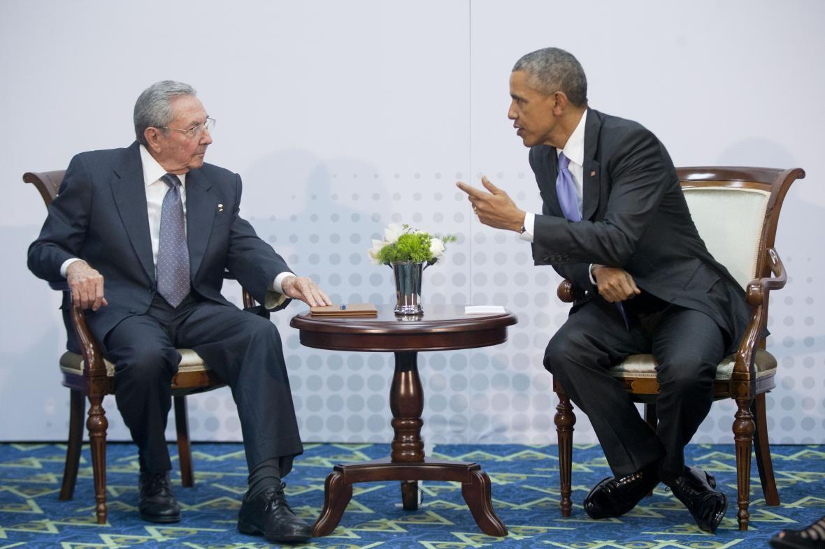 Raúl Castro a Barack Obama