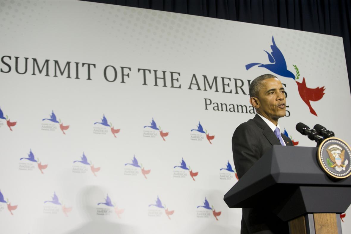 Barack Obama na summitu v Panamě