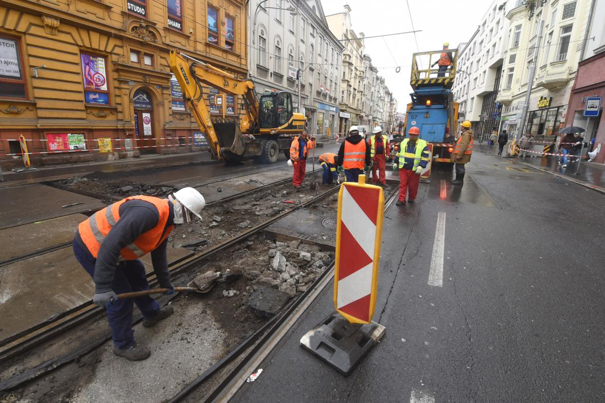 Rekonstrukce Nádražní ulice v Ostravě