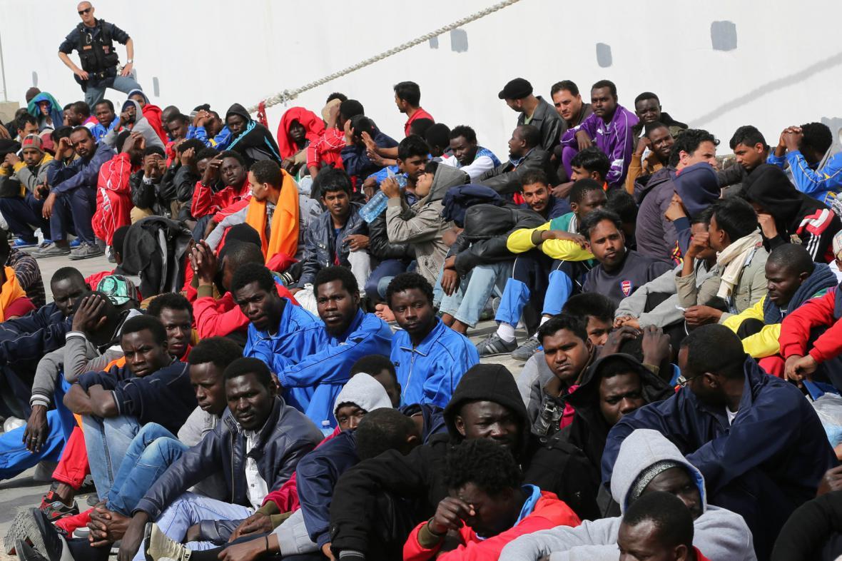 Imigranti na Lampeduse