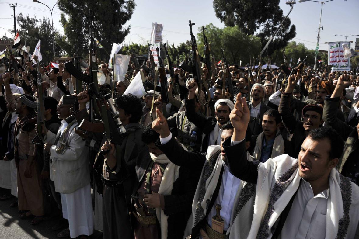 Ozbrojené protesty ve města Saná v jemenu