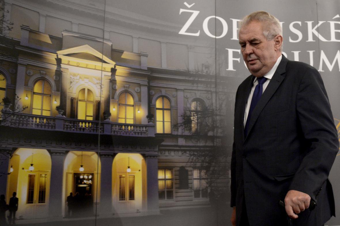 Prezident Miloš Zeman na Žofínském fóru