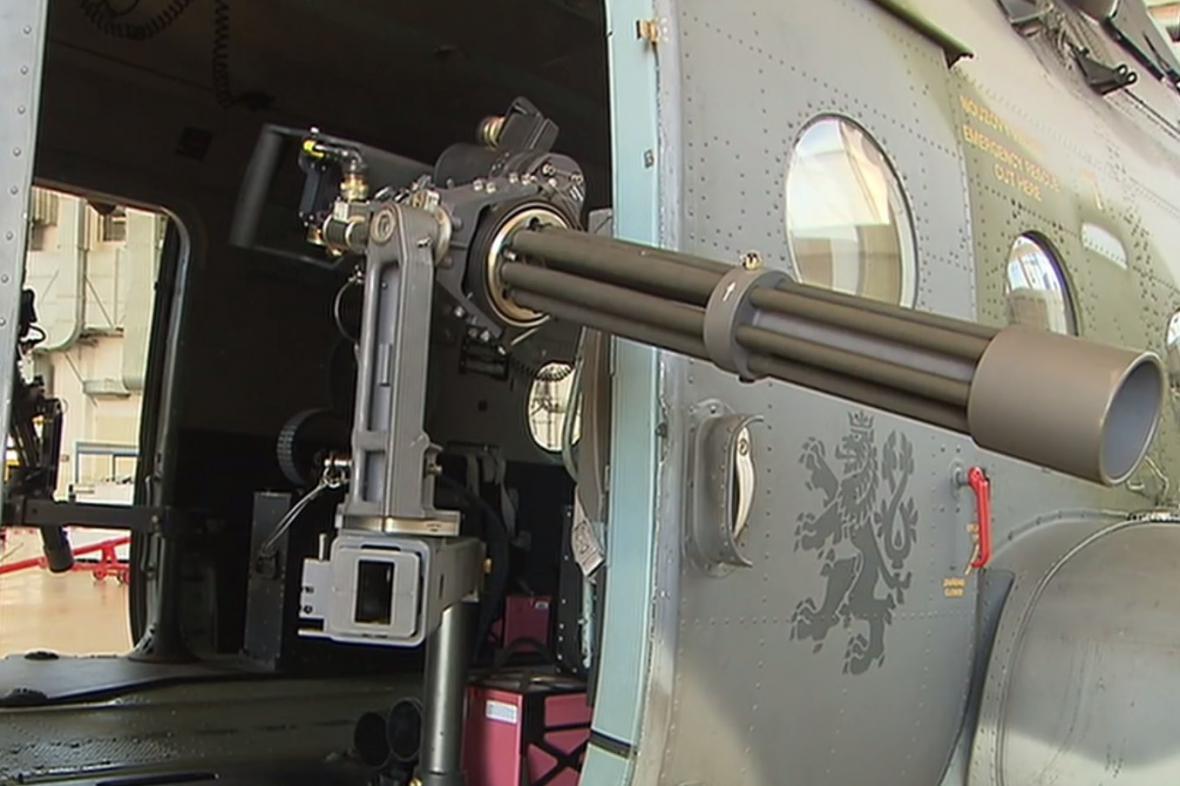 Rotační kulomet modernizovaného vrtulníku