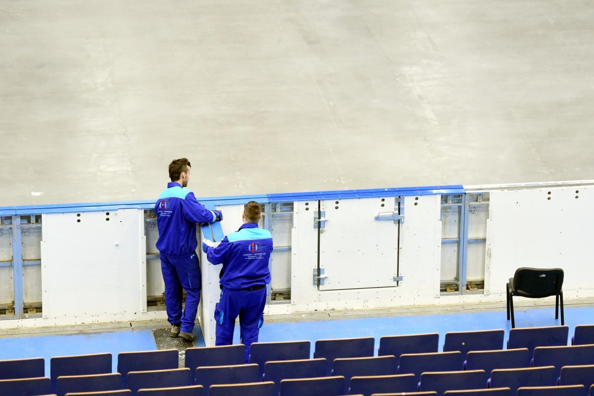 Přípravy na MS v hokeji v Ostravě