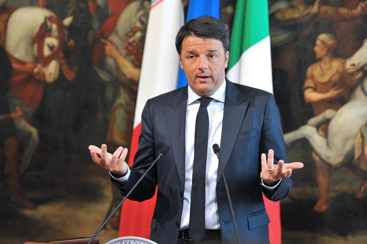 Italský premiér Matteo Renzi