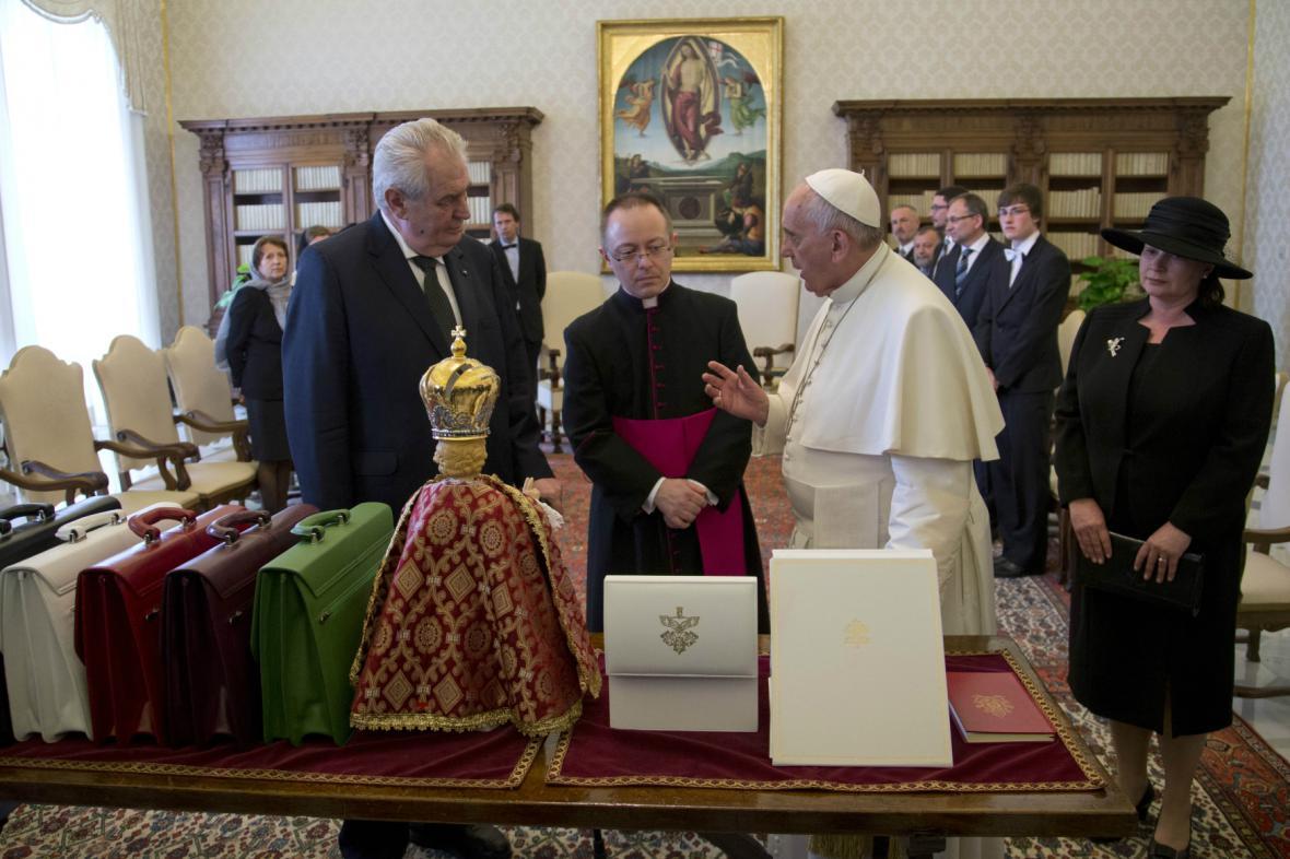 František přijal Miloše Zemana