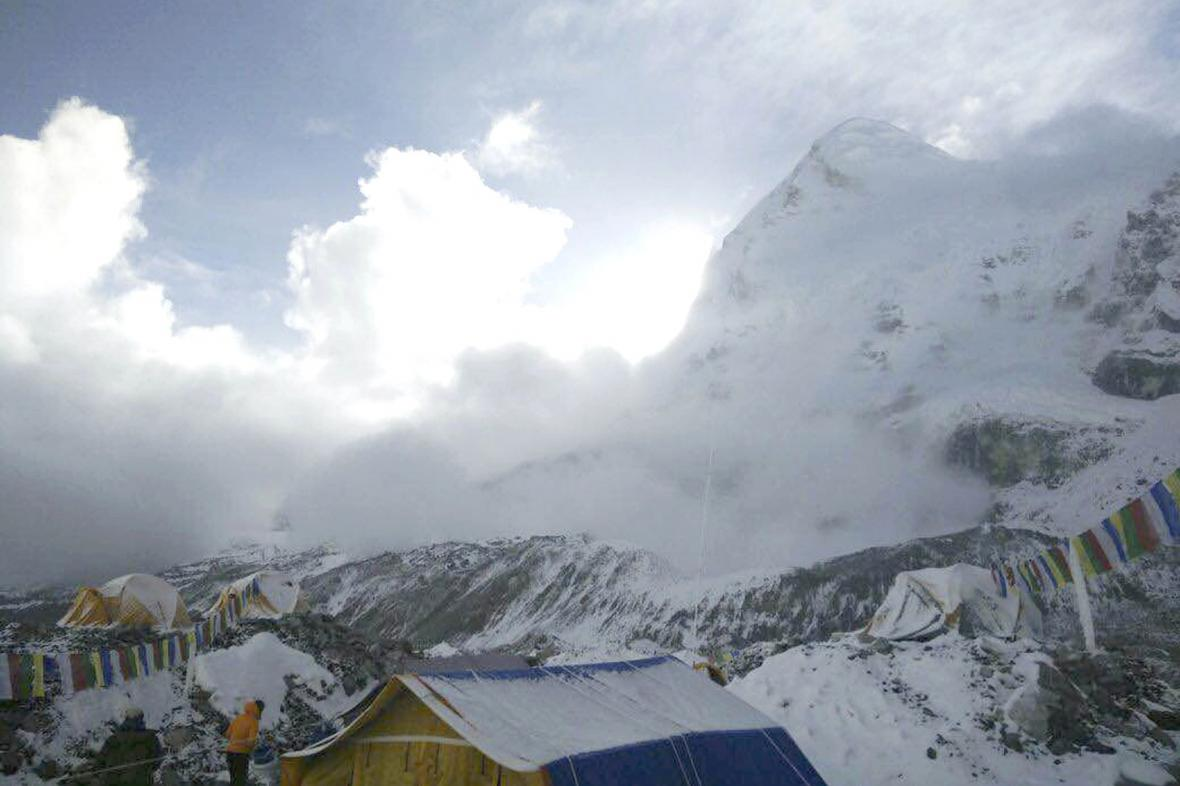 Lavina na Mount Everestu