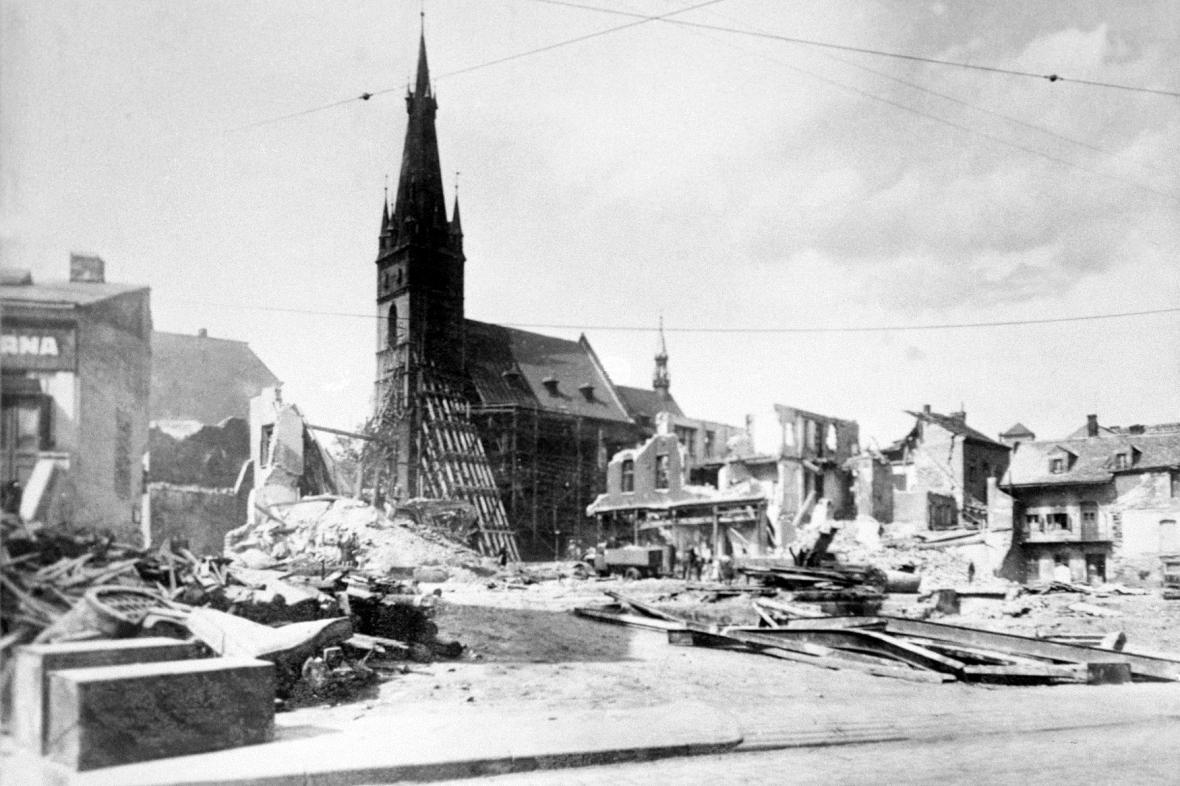 Ústí nad Labem na jaře 1945