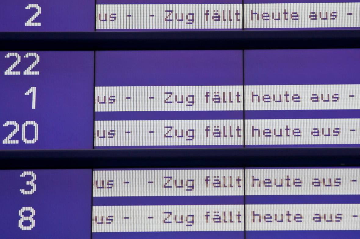 Stávka na německé železnici