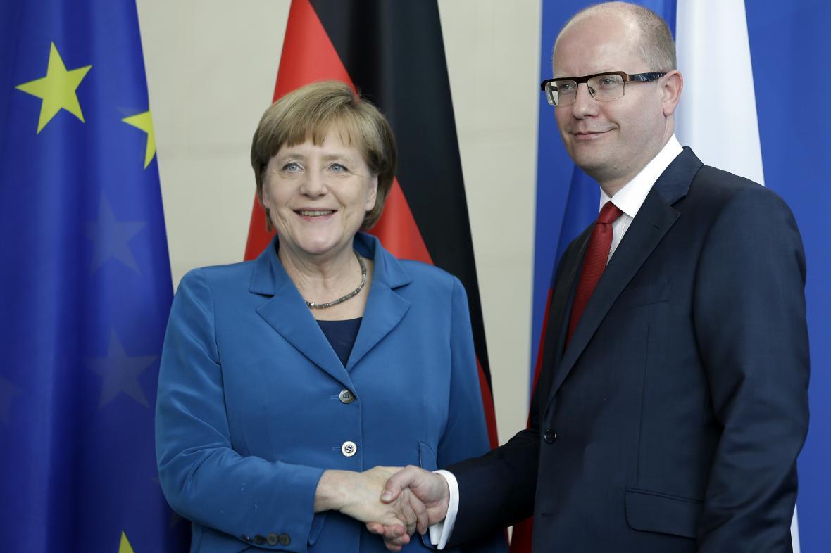 Sobotka se v Berlíně sešel s kancléřkou Merkelovou