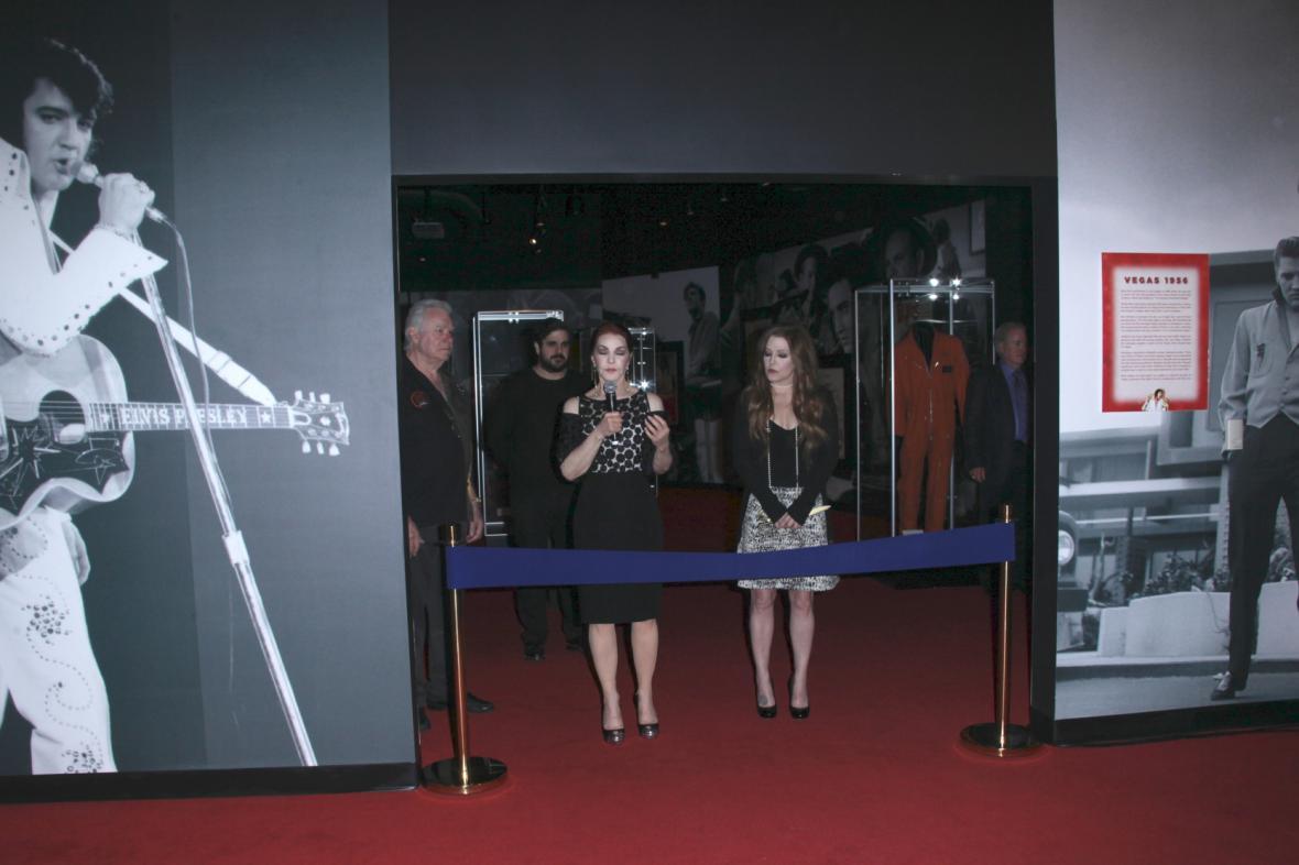 Otevření stálé expozice Elvise Presleyho v Las Vegas