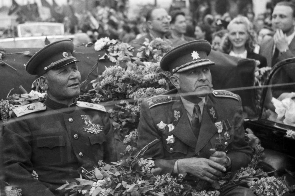 Ivan Stěpanovič Koněv a Ludvík Svoboda