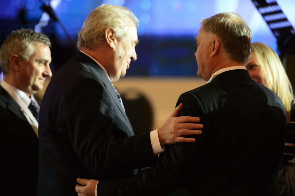 Miloš Zeman s Vladimirem Jakuninem