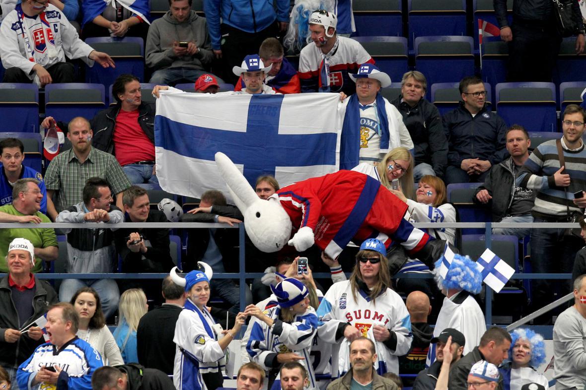 Fanoušci hokeje v Ostravě