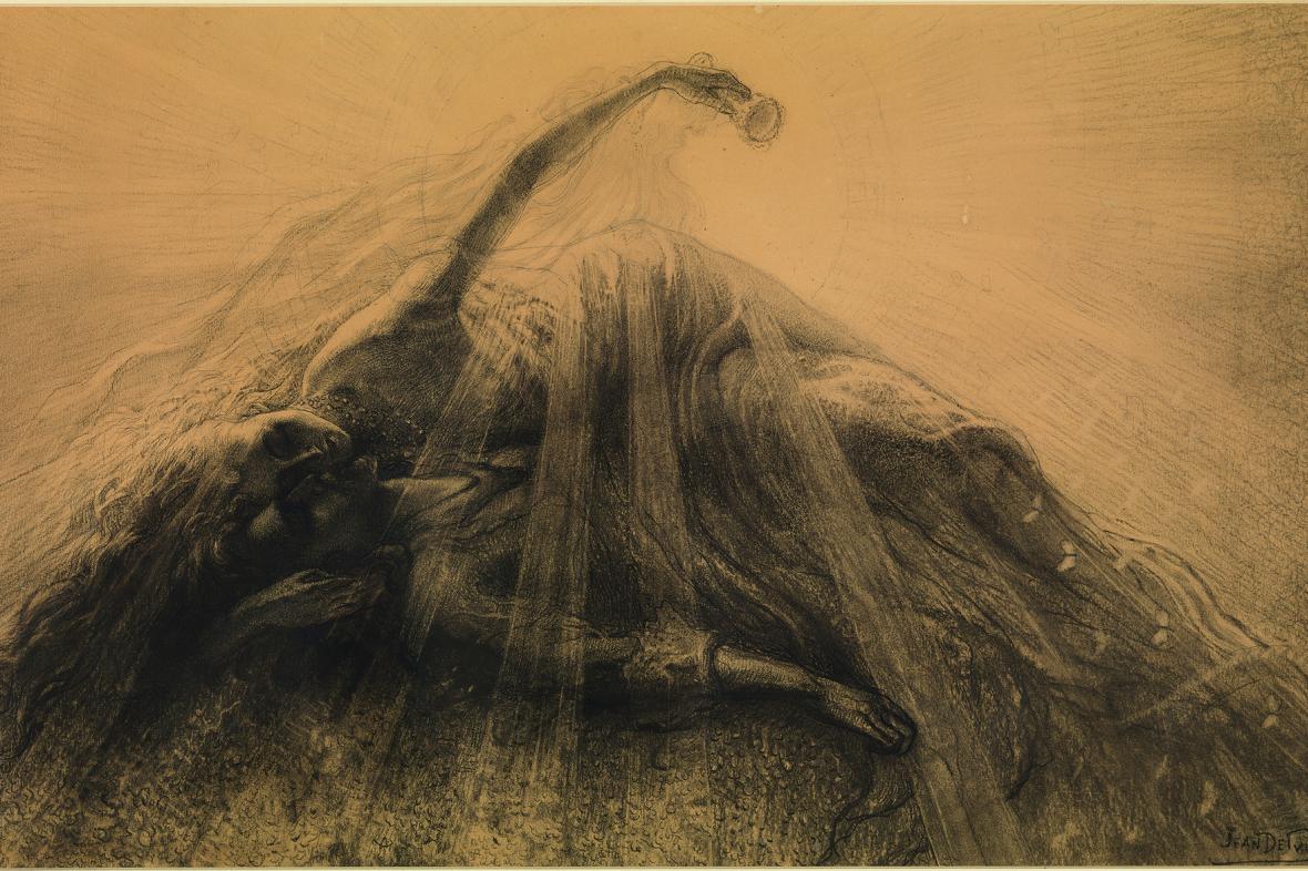 Jean Delville / Tristan a Isolda, 1887