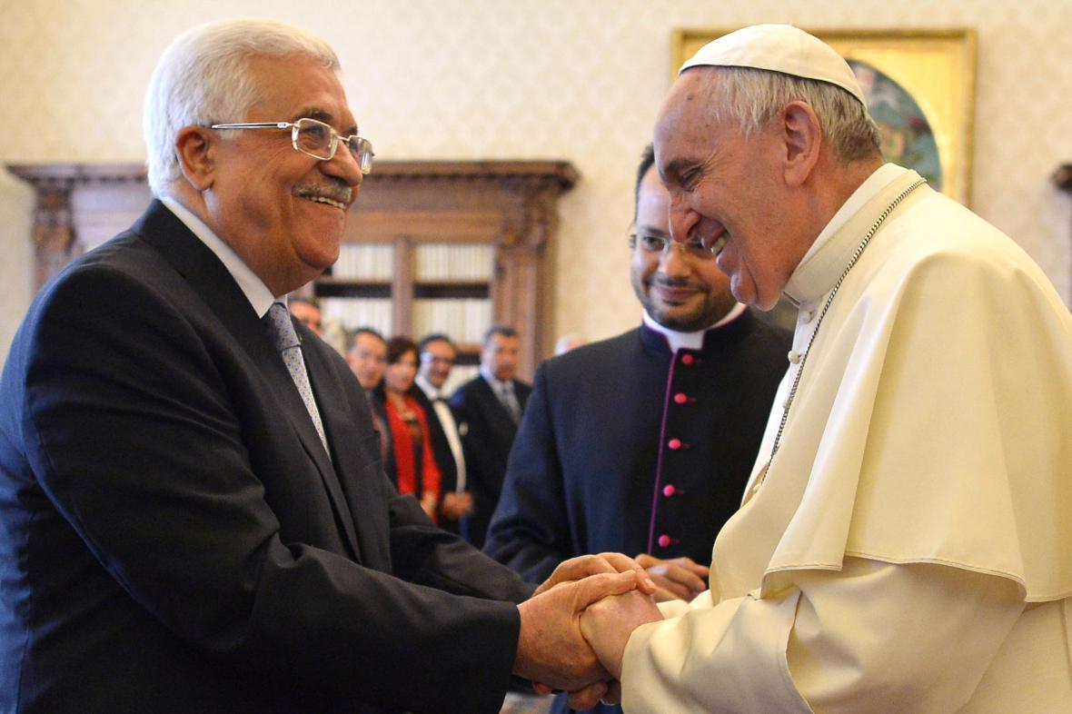 Mahmúd Abbás s papežem Františkem