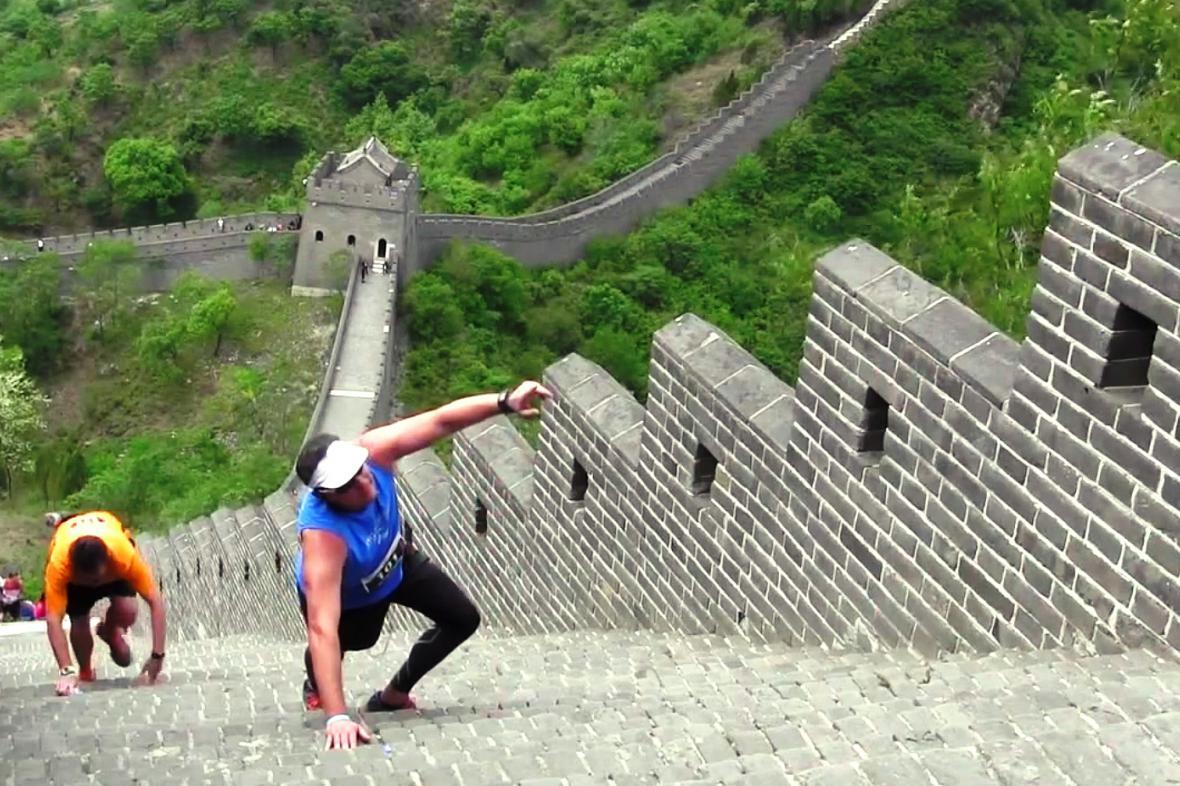 Maratonci na Velké čínské zdi
